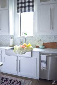 Flat Front Kitchen Cabinets Kitchen Style All White Farmhouse Kitchen Design Brass Kitchen