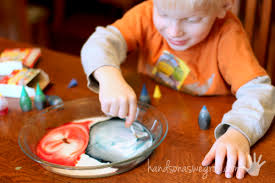 color changing milk experiment for kids to magically mix colors