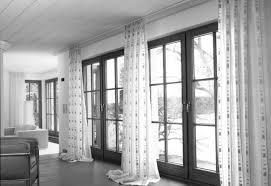 Curtains For A Large Window Inspiration Astonishing Living Room Glamorous Glass Door Large Window Decor