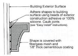 stucco stucco trim foam trim e z do it yourself install