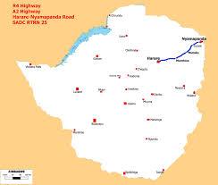 Zimbabwe Map A2 Road Zimbabwe Wikipedia