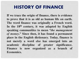 finance meaning concept and types