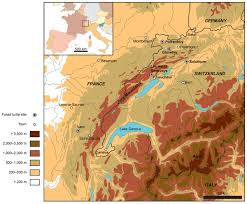 Alps Mountains Map A Taxonomic Review Of The Late Jurassic Eucryptodiran Turtles From