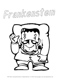 free printable halloween coloring frankenstein