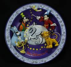 25th anniversary plate 1996 walt disney world 25th anniversary commemorative 3 d plate