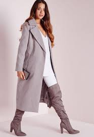 light grey wool coat oversized wool coat light grey missguided