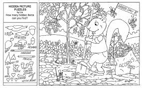 hidden pictures coloring sheets pages printables coloring for kids