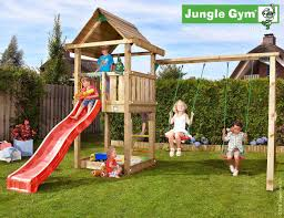 wooden playground equipment for your garden jungle gym