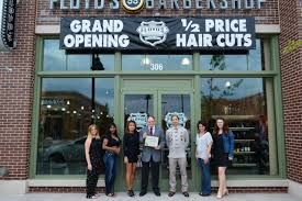 floyd u0027s 99 barber shop opens in downtown crown photos