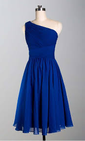 royal blue chiffon bridesmaid dresses buy simple royal blue one shoulder knee length a line chiffon