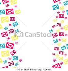 envelope border pattern envelopes border the seamless abstract border made out of vector