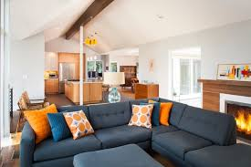 Druid Hills Mid Century Modern Midcentury Living Room - Modern living room furniture atlanta