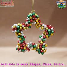 wholesale christmas ornaments 2017 metal jingle bells golden heart