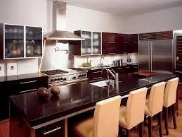 kitchen white chairs dark brown kitchen table brown wall