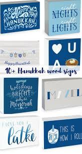 happy hanukkah signs these hanukkah wood signs and boxes hanukkah