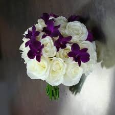 wedding flowers ottawa wedding bouquet with white roses and purple orchids w flowers ottawa