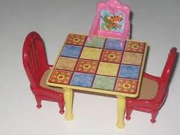 fisher price table chairs fisher price loving family dollhouse kitchen table chairs booster