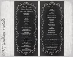 chalkboard wedding program template chalkboard wedding program template chalk board programs black