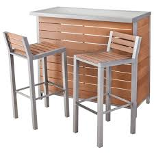 Patio Bar Furniture Set 31 Threshold Bryant Faux Wood Patio Bar Furniture Set At Target