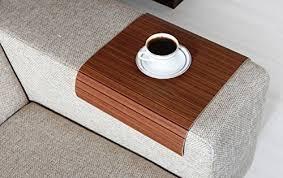 couch arm coffee table amazon com sofa tray table germany walnut sofa arm tray
