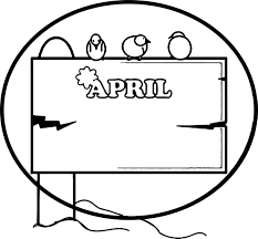 april shower circle border frame coloring page wecoloringpage