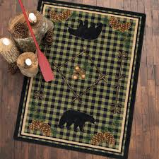 Forest Green Bathroom Rugs by Rustic Wildlife Rugs Including Moose And Bear Rugs Black Forest