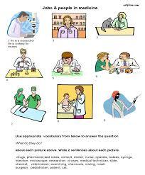 jobs for medicine vocabulary worksheet health pinterest