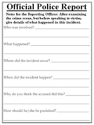 theft report form template best photos of official reports sle report