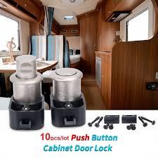 Cabinet Door Locks Latches 10pcs Push Button Cabinet Door Locks Latch Knob Drawer Cupboard Rv