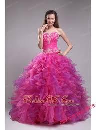 fuchsia quinceanera dresses fuchsia quinceanera dress sweetheart orangza appliques gown
