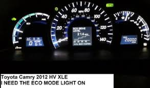 toyota camry dash lights solved how do i turn on eco mode for toyota camry 2012 hv fixya