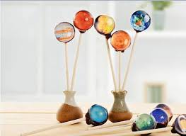 vintage crafted planet handmade lollipop candy 10pcs mixed