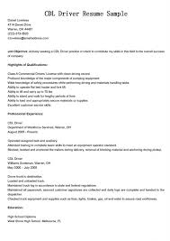 Host Resume Sample by Wondrous Ideas Cdl Resume 3 Truck Driver Resume Sample And Tips