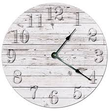 home decor wall clocks rustic beach board clock decorative round wall clock home decor wall