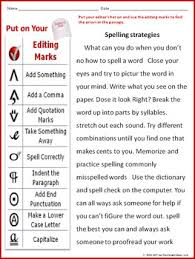 Editing And Proofreading Worksheets Editing Proofreading Worksheet With Spelling Strategies Passage By