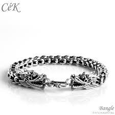 bracelet silver chain images Sterling silver chain bracelets dragon cek 2331 cloisonnekorea jpg