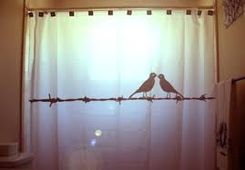 Bird Shower Curtains Love Birds Shower Curtain Barbed Wire Bathroom Decor Kids Bath
