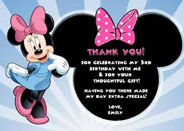 minnie mouse thank you cards minnie mouse personalized birthday thank you card ad 2448083