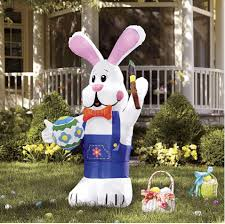 easter decorations on sale 300cm 10ft easter bunny with brush for easter yard
