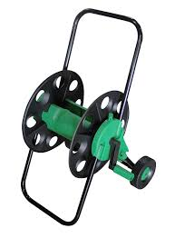 60m empty garden hose wheeled cart hose pipe reel trolley with