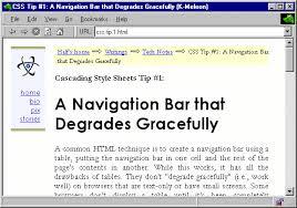 Html Top Navigation Bar Css Tip 1 A Navigation Bar That Degrades Gracefully