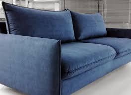Small Sleeper Sofa Bed Slipper Chair Navy Blue Tufted Leather Sleeper Sofa