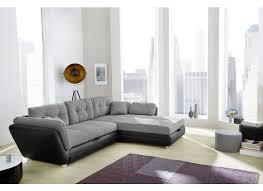 canapé d angle noir et gris canapé d angle java avec fonction lit similicuir tissu noir gris