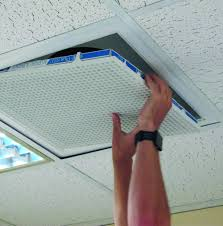 Ceiling Air Vent Deflector by Egg Crate Air Return