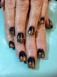 eye candy nails u0026 training black gel polish with gold glitter