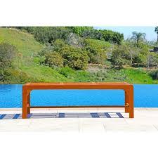 Hardwood Garden Benches Malibu Eco Friendly Backless 5 Foot Outdoor Hardwood Garden Bench