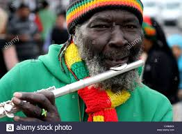 Flute Flag Flute Player Flutewise Playing In London In Vibrant Rastafarian