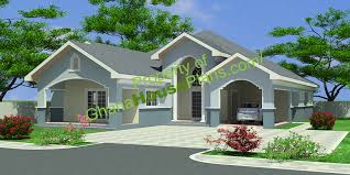 ghana house plans u2013 4 bedroom single storey family house plan