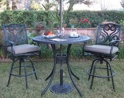 Black Cast Aluminum Patio Furniture 3pc Black Bronze Cast Aluminum Outdoor Patio Furniture Bar Set