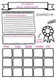social media planner social media printable weekly goals planner and monthly planner